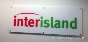 flat acrylic signage