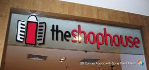 3D acrylic signage for shop house