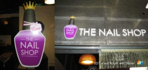 3D acrylic signage for nail shop