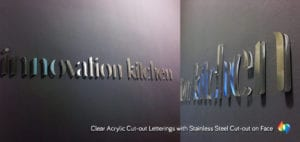stainless steel cutout signage