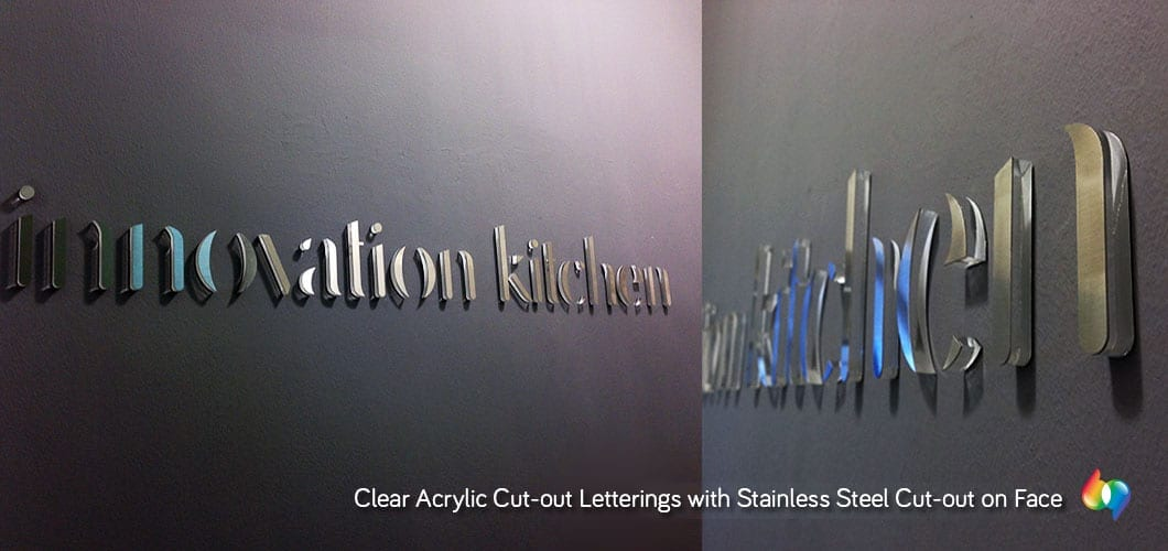 3D stainless steel cutout signage