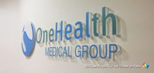 3D acrylic signage with sticker