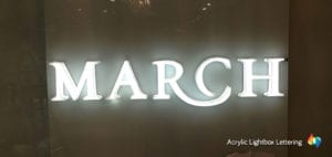 Acrylic Channel letter signage
