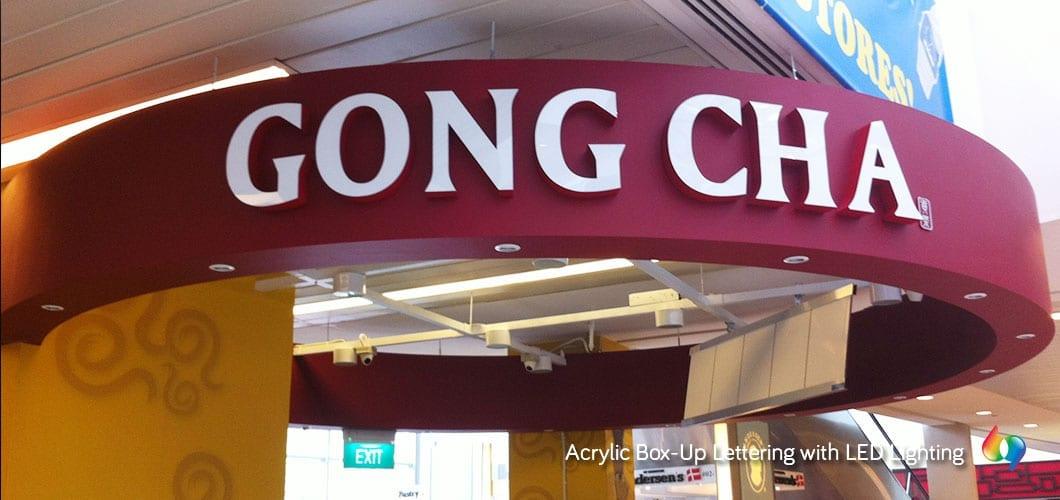 Gong cha 3D signage