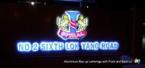 Aluminum channel letter signage