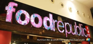 3D singapore signage