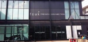 fcuk facade stickers sign
