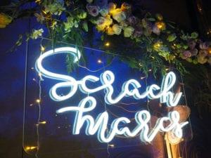 Neon LED Scrach Marcs Signage