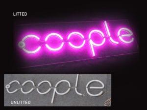 example of led neon signage
