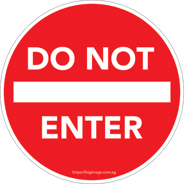 rounded do not enter sign