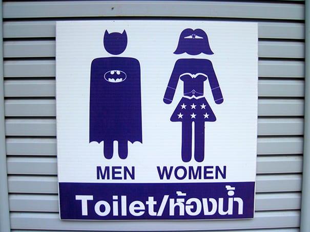 Toilet signage