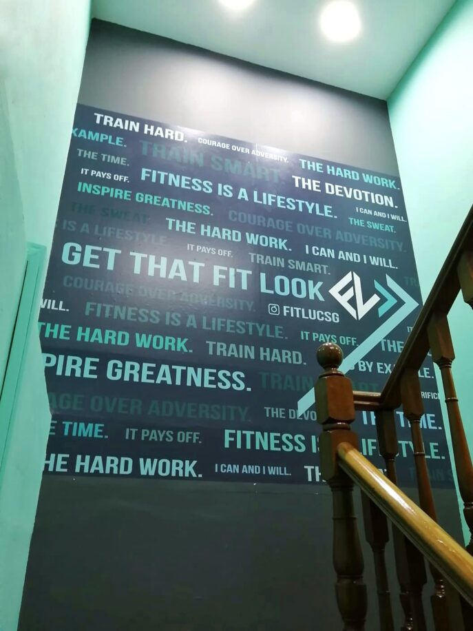 Motivational Vinyl Stickers for Fitluc Gym